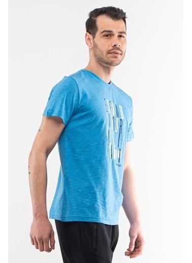 Slazenger Slazenger KNOCK Erkek T-Shirt  Mavi
